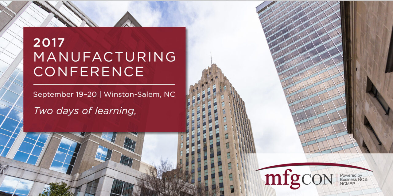 mfgCON 2017 Early Bird Registration now open.