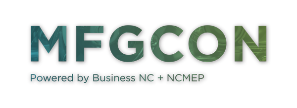 MFGCON Powered by Business NC & NCMEP Logo